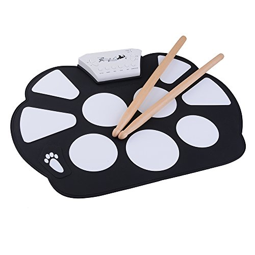 agptek portable mini usb interface kids roll up electronic digital drum pad kit with drum stick. Black Bedroom Furniture Sets. Home Design Ideas