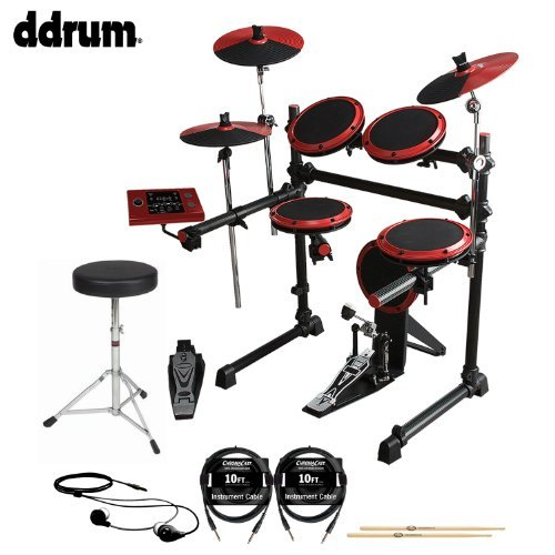 ddrum DD1 Complete Electronic Drum Kit with Earbuds, Drumsticks