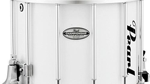 Pearl Championship Maple FFX Marching Snare Drum 14 X 12 In Pure White ConfigurationSnare Size Multiple SizesTotal Pieces 1ExtrasCase Or Bag YesStand