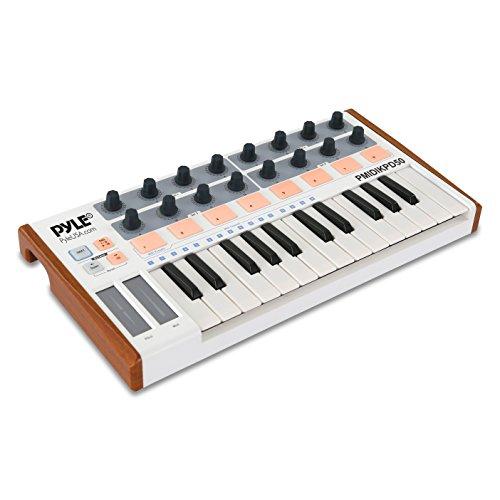Pyle Mini USB MIDI Controller Keyboard – Portable Recording