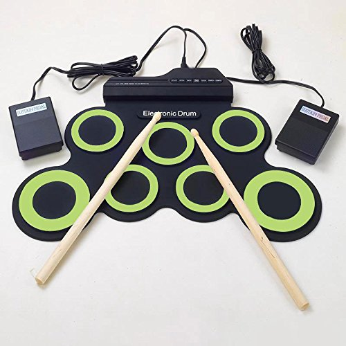 Forfar MIDI Drum Kit Electronic Roll Up with Built in
